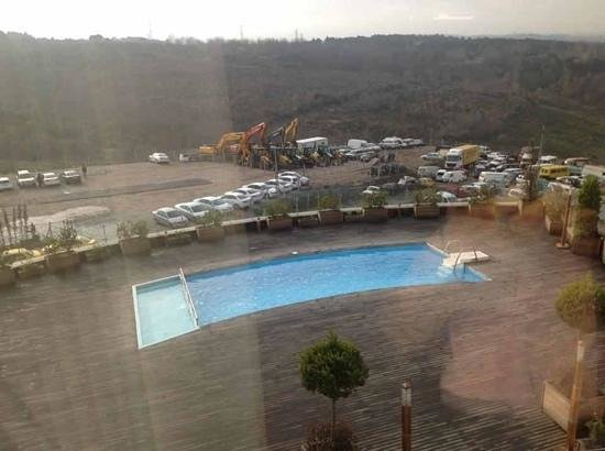 Limak Eurasia Luxury Hotel:                   view from window, nice pool, shame about the bulldozers!
