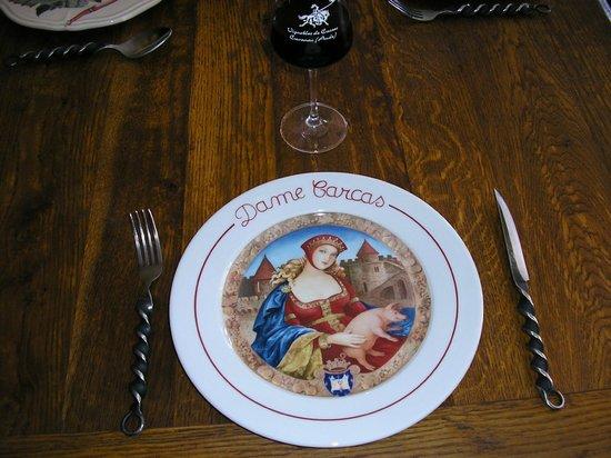 Auberge de Dame Carcas :                   assiette de dame carcas