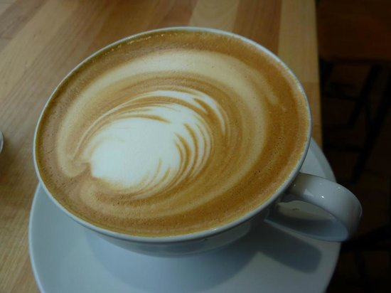 Strangers with coffee :                   yum yum flat white