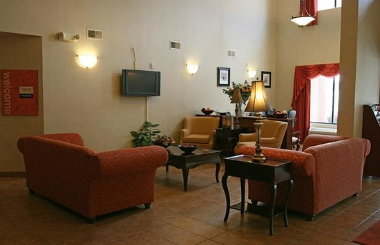 Comfort Inn And Suites: Our lovely lobby is very welcoming for meeting friends, family and other guests.