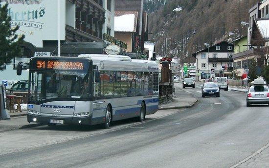 Hotel Tyrol:                   Ski buss stop