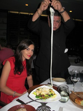 Spago Beverly Hills:                   I do not remember the name of this item but was unbelievably tasty