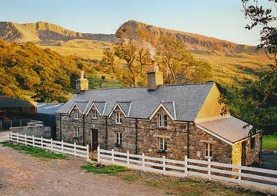 Tyddyn Mawr Farmhouse: The Guesthouse with Cader Idris behind