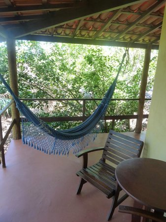 Casa Mestica:                   One of the seating areas + Hammock