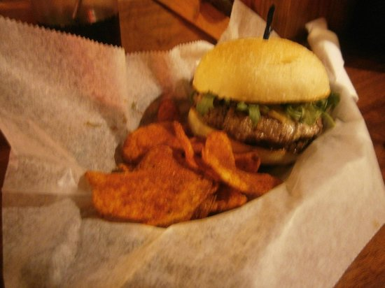 Jack of the Wood:                   Steak Burger with Mushroom Jam/Jalepeno Ketchup, with a smoked cheddar/blue ch
