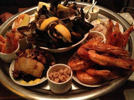 Restaurant Vis & Meer:                                     Plateau Fruit de Mer