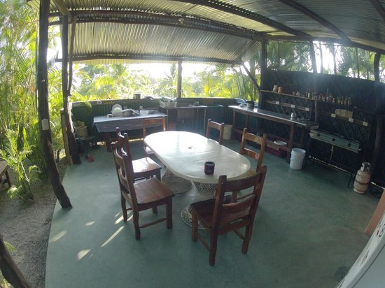 Mal Pais Surf Camp & Resort:                   The Community Kitchen with a Ocean View