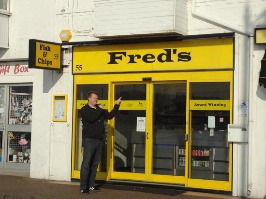 Fred's Fish & Chip Shop:                                     Happy boy!