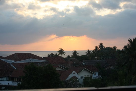 Amangalla:                   Sunset over Galle from Hotel top floor balcony