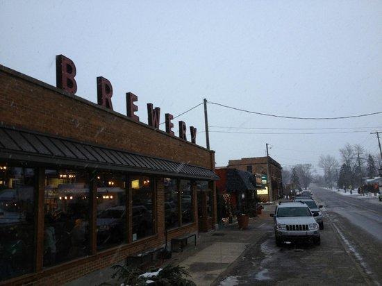 Greenbush Brewing Co. :                   Greenbush Brewery on the main street in Sawyer, MI