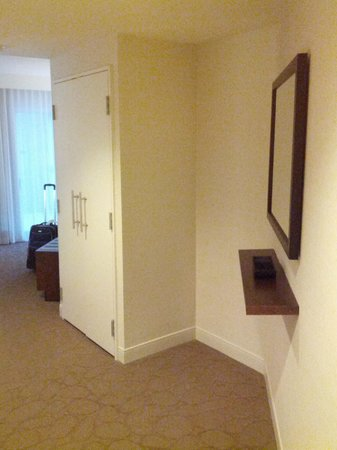 Delta Montreal Hotel:                   Front entry w/closet, coathooks to left of pic