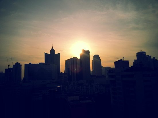 Adelphi Suites Bangkok:                   Sunset from our room