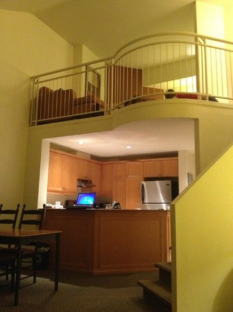 Homewood Suites Mont-Tremblant:                   Loft suite with full kitchen