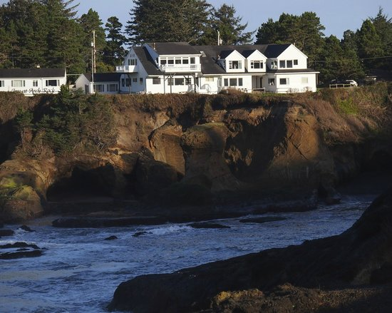 Inn at Arch Rock:                   View of hotel from across the bay