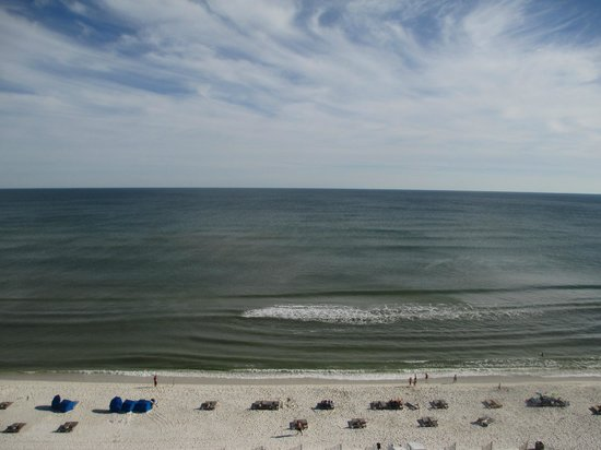 Margaritaville Beach Hotel:                                     Gulf view from my deck. room 700