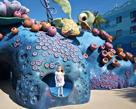 Disney's Art of Animation Resort:                   Play Area next to the Finding Nemo Pool