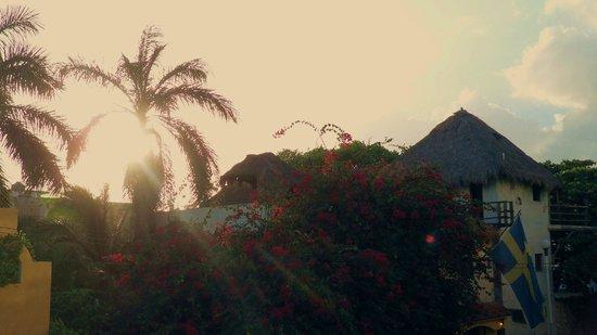 Hotel Hacienda Real del Caribe:                   Balcony View to Right