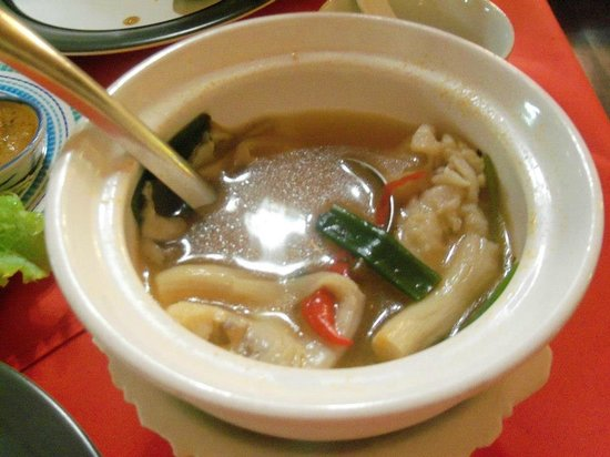 Cabbages & Condoms:                   The best soup in Chiang Rai - Cabbages and Condom Restaurant.