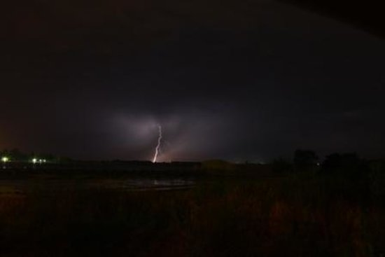 River Cafe:                   Lightning Storm From the deck