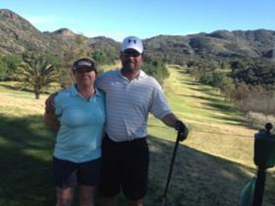 Malibu Country Club :                   Steve & Sue enjoying Cali!