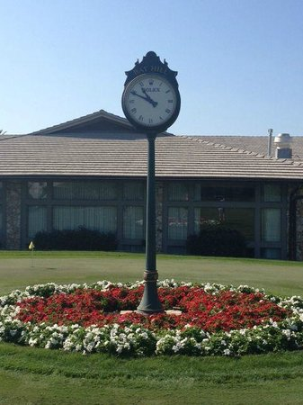 Arnold Palmer's Bay Hill Lodge:                   Starters clock at Bay Hill