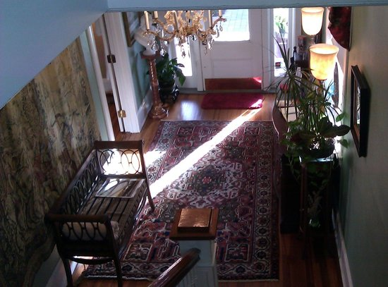 Inn On Charlotte:                   Front Entrance Hall viewed from the stairs
