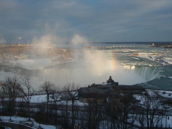 Oakes Hotel Overlooking the Falls:                   View of Horseshoe Falls from our window.