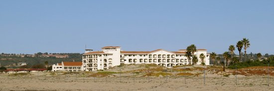 Navy Lodge North Island Naval Air Station:                                     Navy Lodge from the beach- cottages are to the left