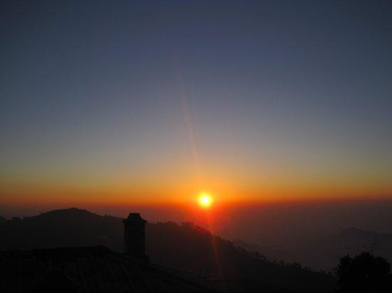 Villa Retreat:                   sunrise from room