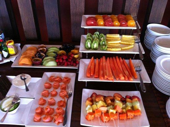 Grootbos Private Nature Reserve: colazione buffet della frutta