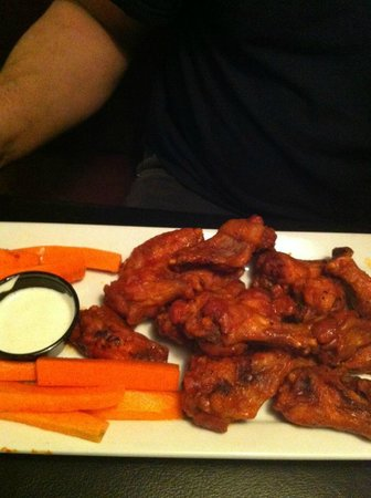 Tee Jay's Sports Grill :                                                       Medium wings (about a 1/4 way through our
