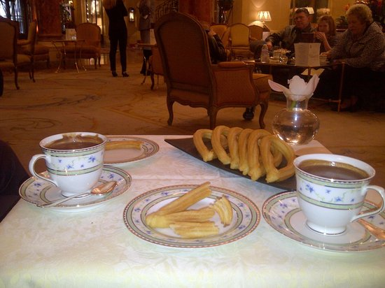 Hotel Ritz, Madrid:                   The best churros in town!