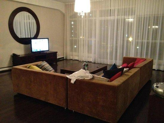 Loft Hotel:                   the living area