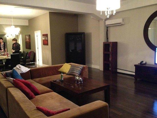 Loft Hotel:                   living area