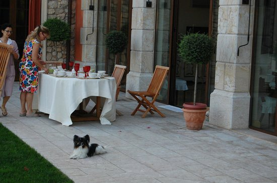 Villa Aldegheri:                   Breakfast on the patio