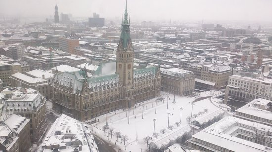 St. Petri Kirche:                                     town hall from above