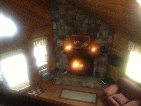 Mill Creek Cabins:                   Nice overview of the living room