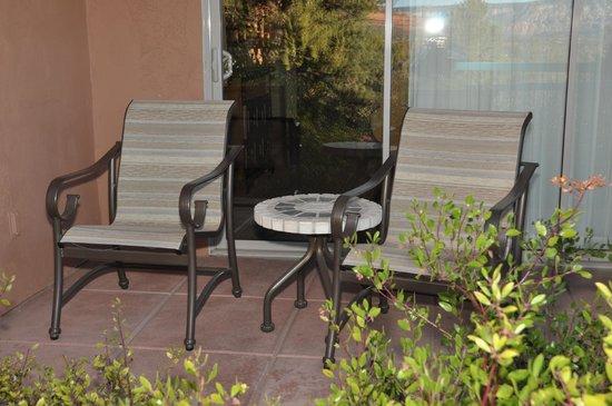 Sedona Summit Resort:                   Mesa Suite patio