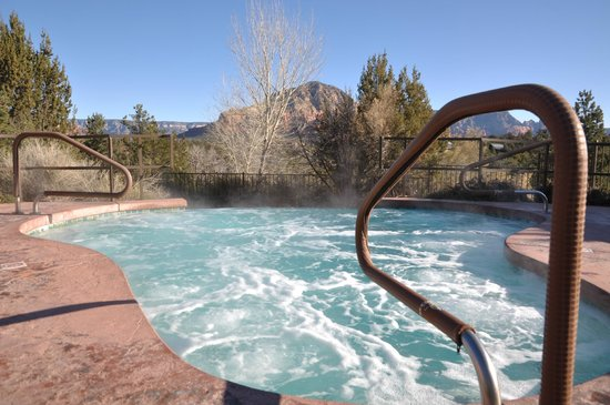 Sedona Summit Resort:                   Hot Tub with a view