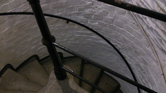 St. Petri Kirche:                                     spiral stair of the lower section- first 100+ steps