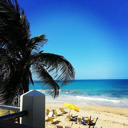 Atlantic Beach Hotel:                   View from patio