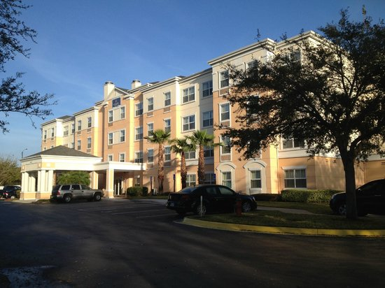 Extended Stay America - Orlando - Convention Ctr - 6443 Westwood:                                     Morning sun on front of hotel