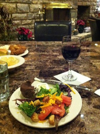 Homewood Suites by Hilton Columbus / Worthington:                   My delicious FREE dinner and $1 glass of wine