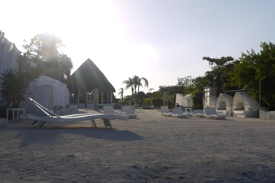 Bel Air Collection Resort & Spa Riviera Maya:                   not a real beach, but by the sea with a lovely walk to the lagoon