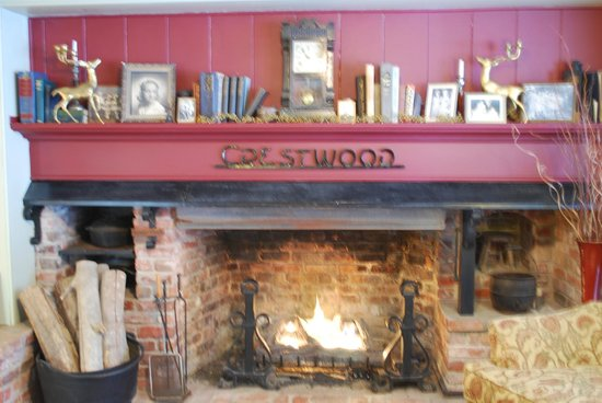 The Table at Crestwood :                   One of many fireplaces at the Crestwood