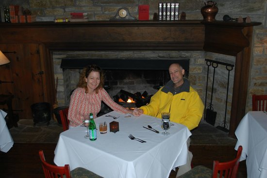 The Table at Crestwood :                   Waiting for dinner in front of the fire!