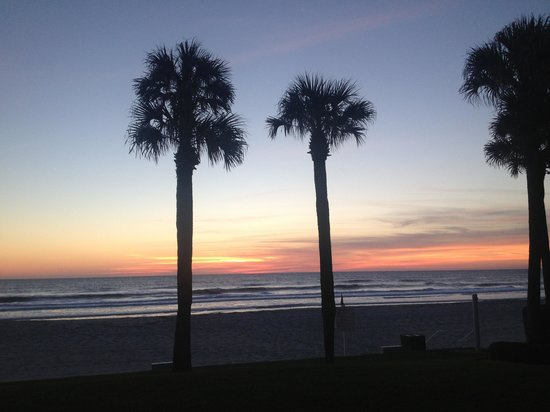 Ponte Vedra Inn & Club:                   Sunrise from the room's patio 3/12/13