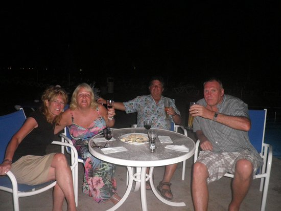 St. James's Club Morgan Bay:                                     Last night with the fun couple from England