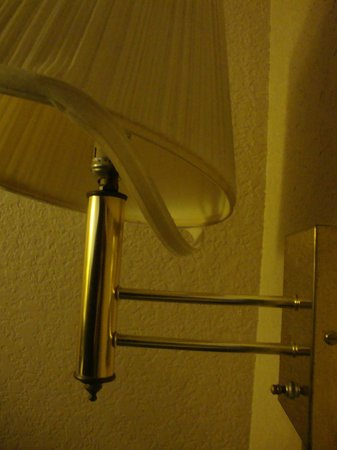 The Inn Downtown / Museum Reach:                   Why is this lamp just falling apart? Room is just run down.