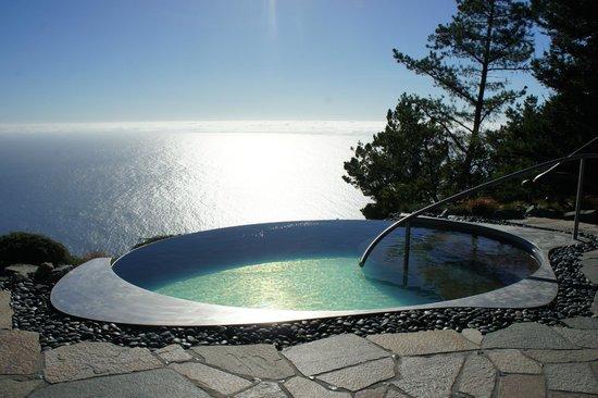 Post Ranch Inn:                   Spa pool at far end of resort